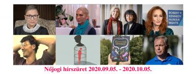 Nőjogi hírszüret 2020. szeptember 5. - 2020. október 5.