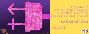 Sajtóközlemény: Kézikönyv és tanárképzés az egyenlőségen alapuló szexuális felvilágosításról